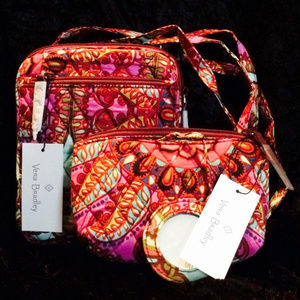 Vera Bradley Mini Hipster w/mirrored cosmetic bag